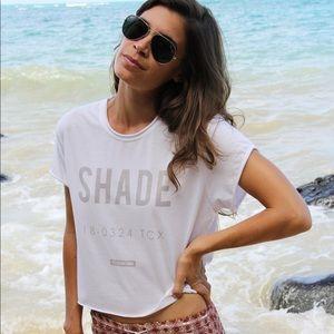 """Shade"" Rolled Sleeve Crop Tee | Laundry Room"